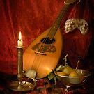 Mandolin and Pears by Gazart