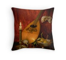 Mandolin and Pears Throw Pillow