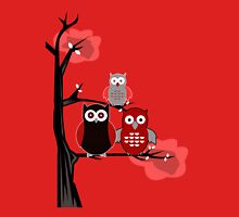 Red Owls Womens Fitted T-Shirt