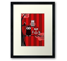 Red Owls Framed Print