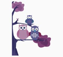 Purple Owls Kids Clothes