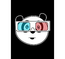 Panda - 3D Glasses (Black) Photographic Print