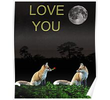 Eftalou Foxes LOVE YOU Poster