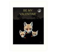 Eftalou Foxes Be My Valentine Art Print