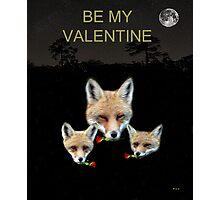 Eftalou Foxes Be My Valentine Photographic Print