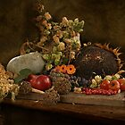 still life of autumn fruits and vegetables by VallaV