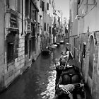 Gondoliers Getting Ready ~ Black &amp; White by Lucinda Walter
