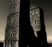 RECULVER TOWERS (English Heritage)  by larry flewers