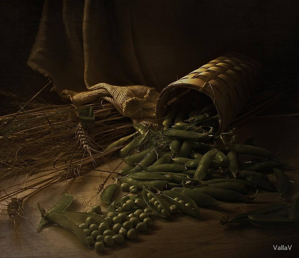 Pea Still Life by VallaV