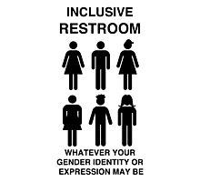Inclusive Restroom Sign Photographic Print
