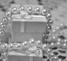 Tiny boxes and pearls- black and white by mltrue