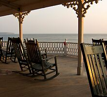 Surf Hotel Porch View - Block Island by Stephen Cross Photography