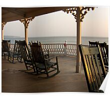 Surf Hotel Porch View - Block Island Poster