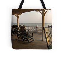 Surf Hotel Porch View - Block Island Tote Bag