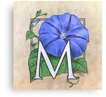 M is for Morning Glory Canvas Print