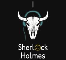 Sherlock - Cow skull (white text) by Angrahius