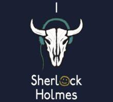Sherlock - Cow skull (white text) Kids Tee