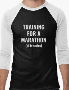 Training For A Marathon Men's Baseball ¾ T-Shirt
