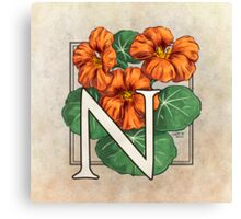 N is for Nasturtium Canvas Print