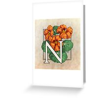 N is for Nasturtium Greeting Card
