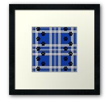 Paws on a pillow (blue) Framed Print