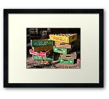 Soda Crates Framed Print
