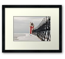 A calm winter day for this sentry Framed Print