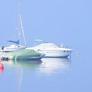 Boats in the mist by LadyE