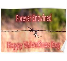 Forever Entwined Valentine Poster