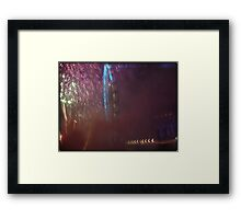 Amazing London - New year's Day Fireworks - 1st - 2011 - UK Framed Print