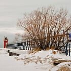 South Haven pier on a cold, calm winter day by Robert Kelch, M.D.
