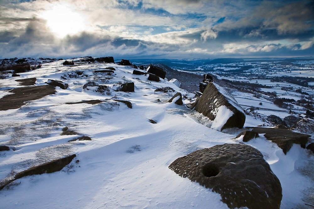 Curbar Snows by Roy Childs