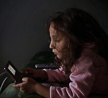 Mireya Francesca playing Nintendo by Anthony Vella