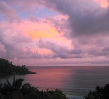 Pink Sunset in Seychelles by maashu