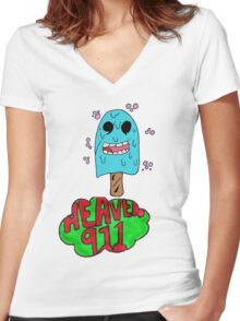 Blue Lollypop Women's Fitted V-Neck T-Shirt