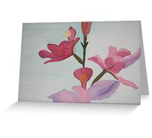 Bird of Paradise in Watercolor Greeting Card