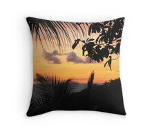 Abstract fauna sunset Throw Pillow