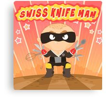 Swiss Knife Man Canvas Print