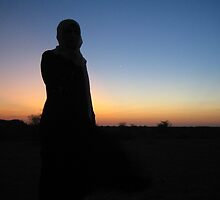 Ethiopia sunset - framing me! by maashu