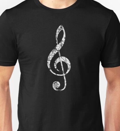 G-Clef, Treble Clef Vintage White Unisex T-Shirt