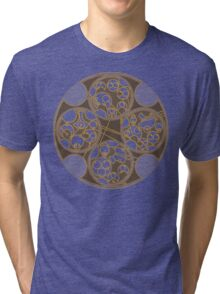 Tick-Tock Poem in Circular Gallifreyan Tri-blend T-Shirt