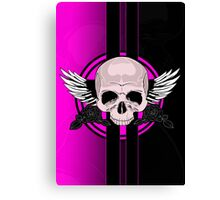 Wing Skull - PINK Canvas Print