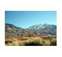 Colors Of Mountains And The Desert Art Print