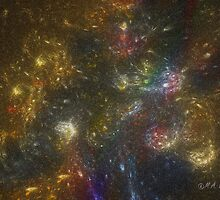 Rainbow Star Galaxy by Monica Wolfson