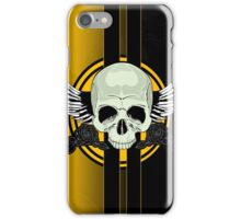 Wing Skull - YELLOW iPhone Case/Skin