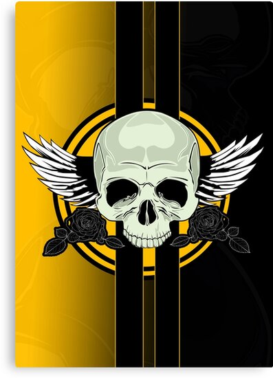 Wing Skull - YELLOW by Adamzworld