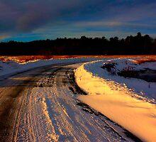Snowy Sunrise Phippsburg, Maine by moosewinks