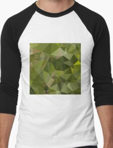 Sap Green Abstract Low Polygon Background T-Shirt