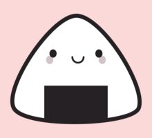 Kawaii Onigiri Rice Ball Kids Tee