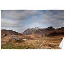 View of Langdales- Lake District Poster
